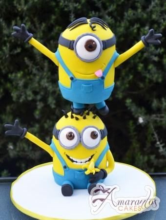 3D Minions Cake - Amarantos Celebration Cakes Melbourne
