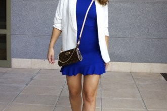 fashion pills dress blue blazer h&m chloe borel shoes pochette eva louis vuitton amaras la moda
