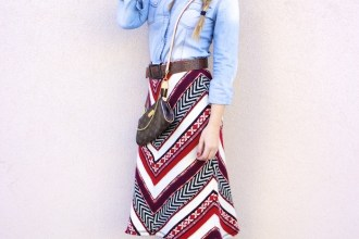 tribal skirt denim shirt boots louis vuitton bag amaras la moda