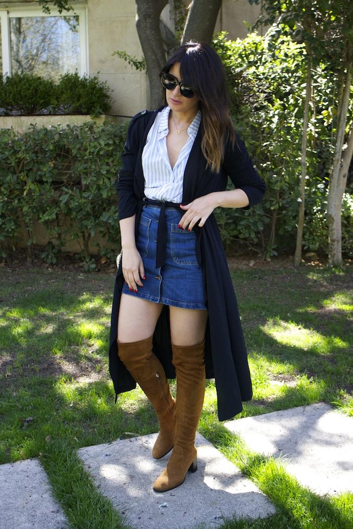 paula fraile la gavia modelo street style zara shirt overthe knee boots amaras la moda2