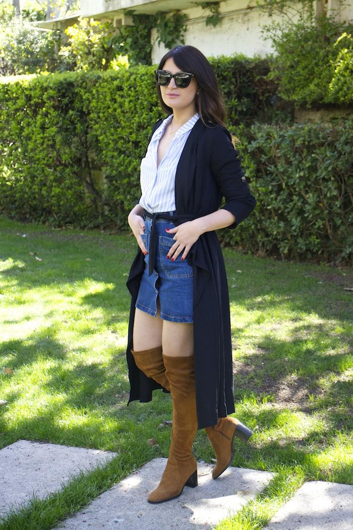 paula fraile la gavia modelo street style zara shirt overthe knee boots amaras la moda3