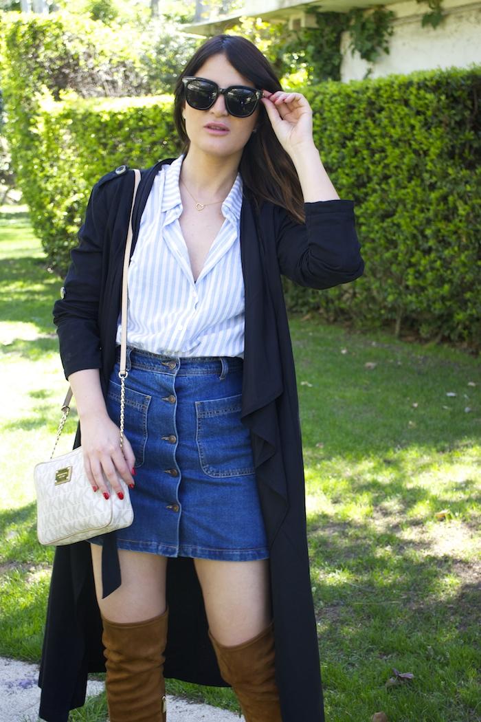 paula fraile la gavia modelo street style zara shirt overthe knee boots amaras la moda6
