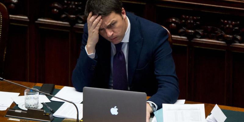 Camera dei Deputati. Il presidente del Consiglio Matteo Renzi chiede la fiducia