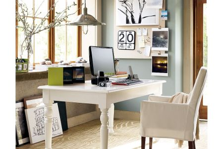 home office decor with white color