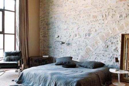 pics photos simple bedroom interior design with brick wall