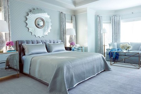 choosing silver bedroom décor for a romantic touch
