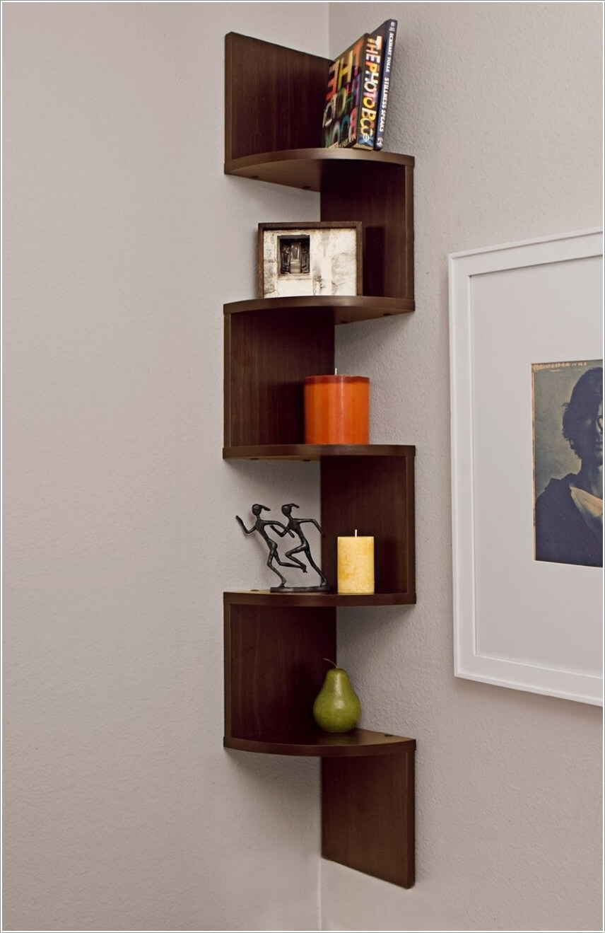 Relieving A Shelving Unit Design Inspired From Stairs To Display Knickknacks Shelf Ideas Shelf Ideas Shelf Ideas Desk interior Corner Shelf Ideas