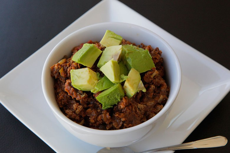 Paleo Slow Cooker Pumpkin Turkey Chili