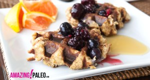 Paleo Zesty Orange Waffles