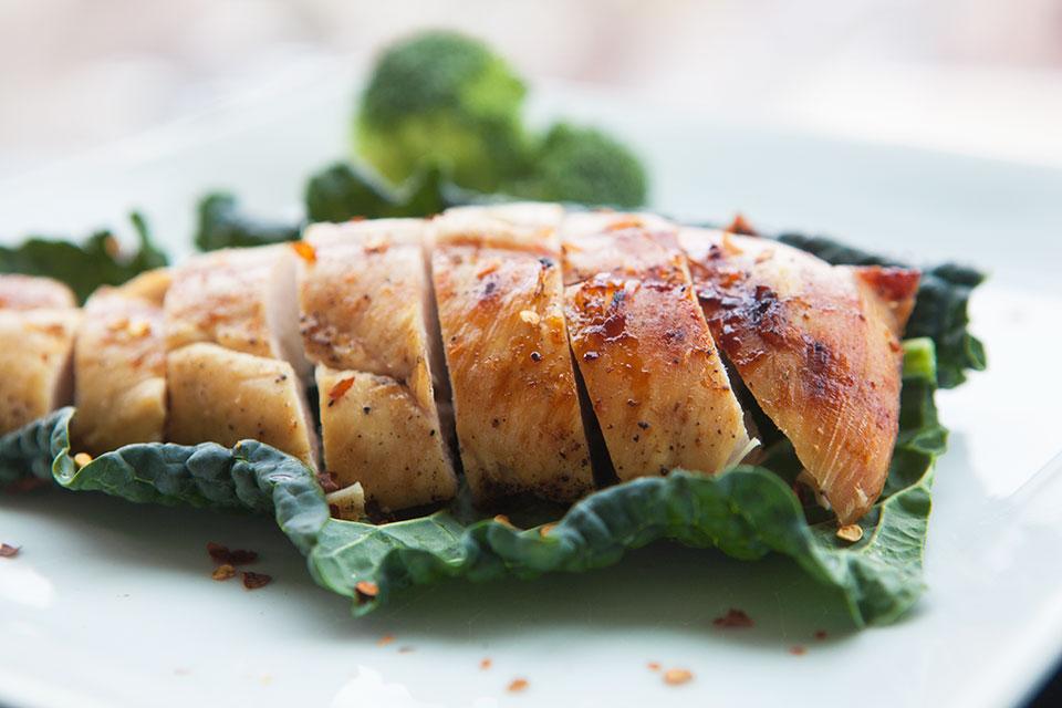 ... black pepper butterflied chicken breasts grape seed oil grill sea salt