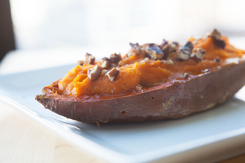 Twice Baked Sweet Potatoes - by AmazingPaleo.com