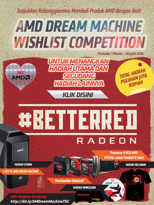 AMD DREAM MACHINE WISHLIST COMPETITION