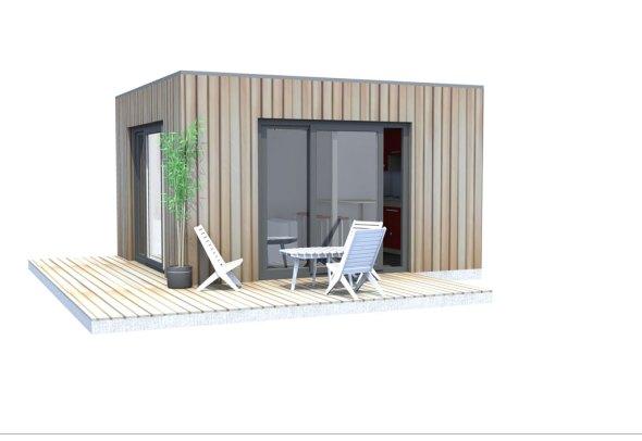 Une exclusivit le bungalow design studio mobilier de for Studio de jardin habitable