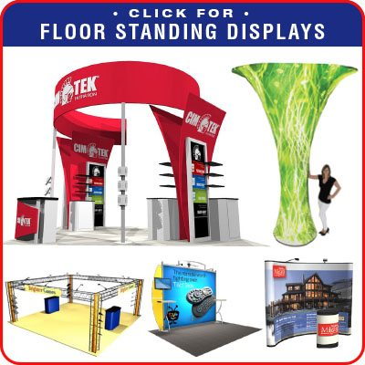 Floor-standing Trade Show Displays and Booths