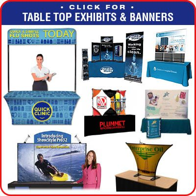 Table Covers and Table Top Displays