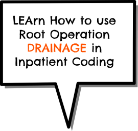 Learn How to use DRAINAGE Root Operation in IP coding