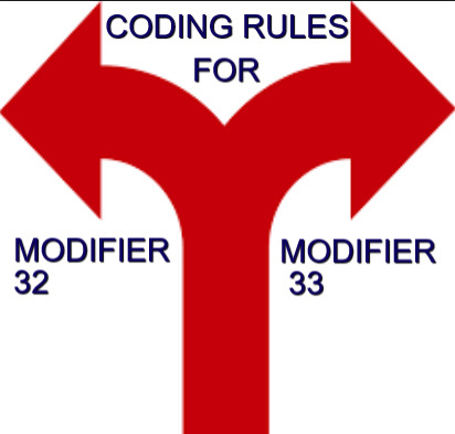 Coding rules for Modifier 32 and 33