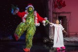 """""""Dr. Seuss's How the Grinch Stole Christmas,"""" by Timothy Mason, Mel Marvin, and Jack O'Brien, at the Old Globe in San Diego, Calif., through Dec. 26. Pictured: J. Bernard Calloway and Mikee Castillo. (Photo by Jim Cox)"""