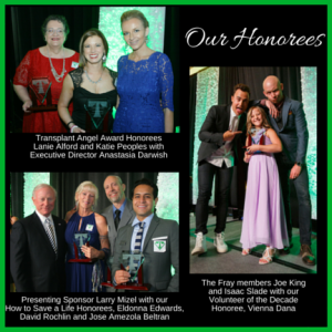 Transplant Hero Awards Honorees