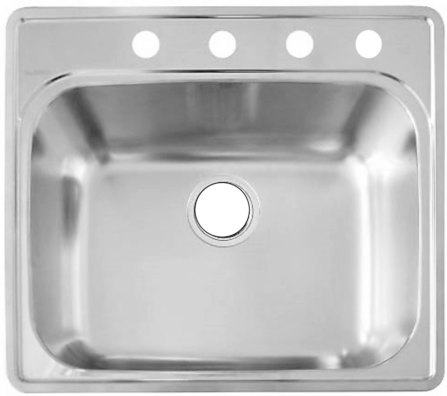 as 25 22 8 20g single bowl topmount builder stainless steel kitchen sink single bowl kitchen sink Topmount SS Kitchen Sink