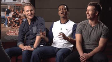 'EVERYBODY WANTS SOME!'  INTERVIEW WITH WYATT RUSSELL, GLEN POWELL, AND J. QUINTON JOHNSON