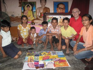 Jnanamati, one of our Amitarya's, leading a children's Buddhist class in India.