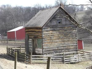 The old log homestead on the Fender's Fish Hatchery Farm. It is my understanding that this is their original Fender's home.