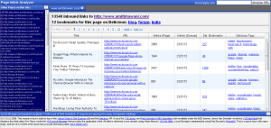 Page Inlink Analyzer