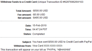 Paypal Transaction Details