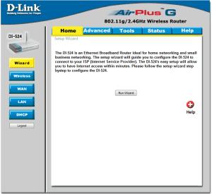 D-Link DI-524 Web Configuration