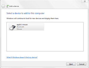 Bluetooth Add Device Magic Mouse