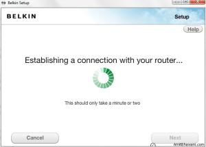 Establishing Connection Router