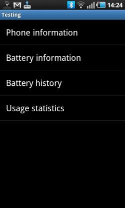 Battery Phone Info