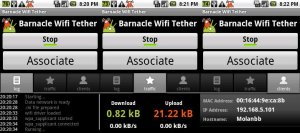 barnacle wifi tether