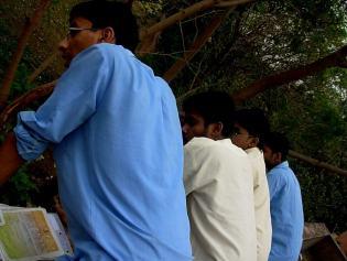 It was utmost tension as all were watching Deepnil's landing.