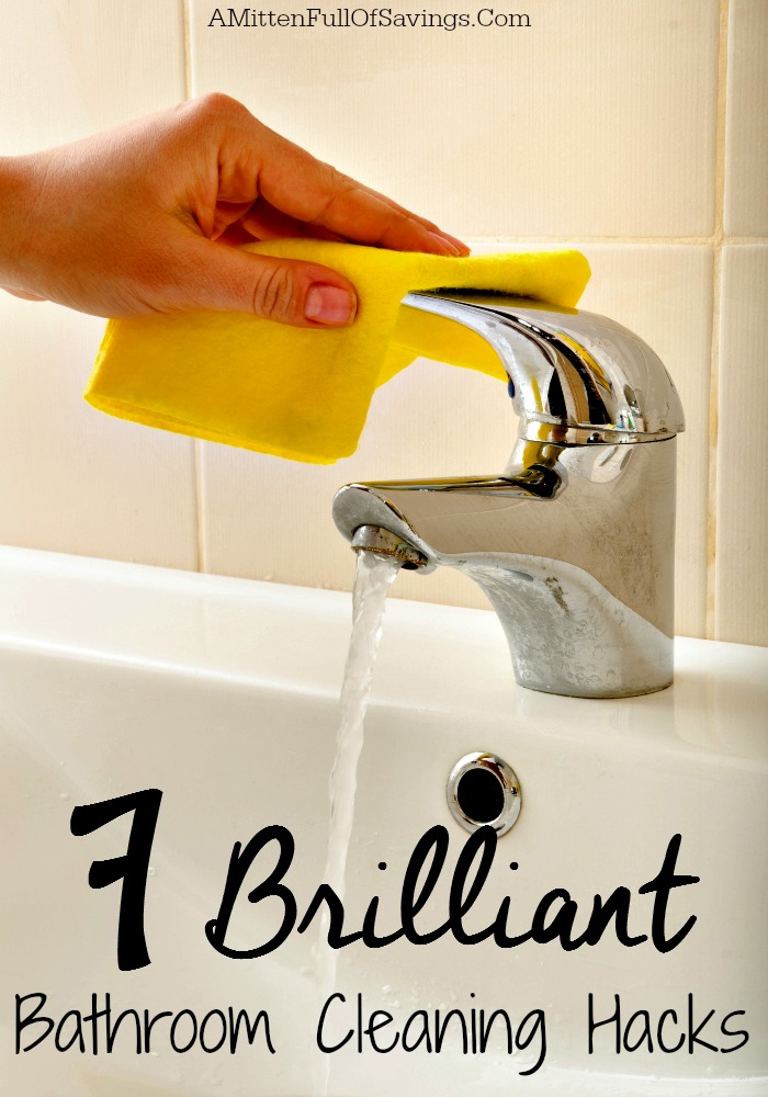 7 brilliant bathroom cleaning hacks a mitten full of savings. Black Bedroom Furniture Sets. Home Design Ideas
