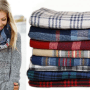 Plaid Infinity Scarves Just $7.99