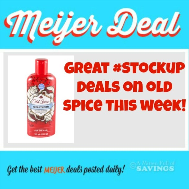 Meijer Great Stockup Deals On Old Spice Products This