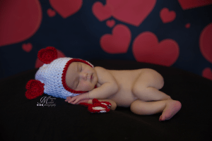 Valentine's Heart Hat Crochet Pattern by AMKCrochet.com