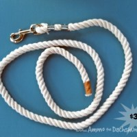 DIY $5 Rope Dog Leash
