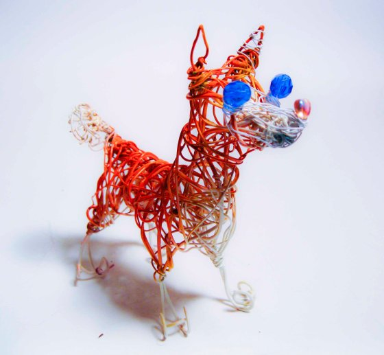Friday Fetch: Wire Dog Sculptures from Wire Art Ink // Ammo the Dachshund