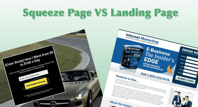 Landing Page و squeeze page ما الفرق بينهما ؟ مقارنة واضحة !