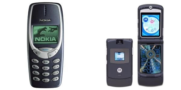Nokia-3310-and-Motorola-RAZR-V3