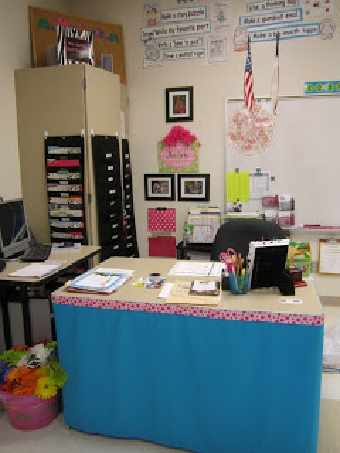 Mission organization 21 ideas on organizing your teacher - Classroom desk organization ideas ...
