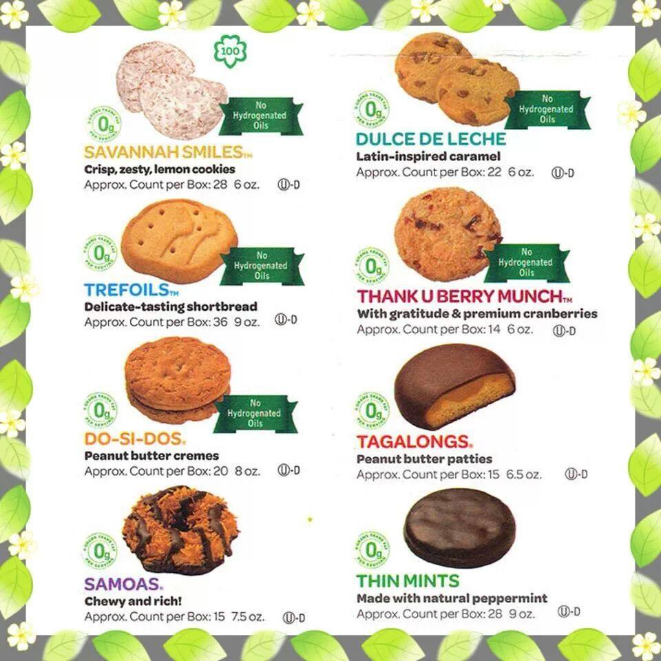 pics for gt girl scout cookies 2013 order form