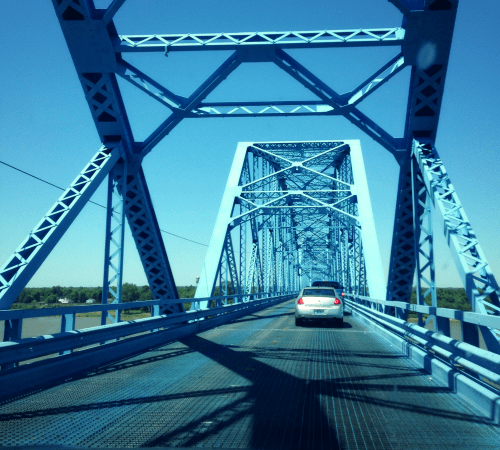 Scary bridge over the Ohio river