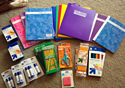 School supplies from Target