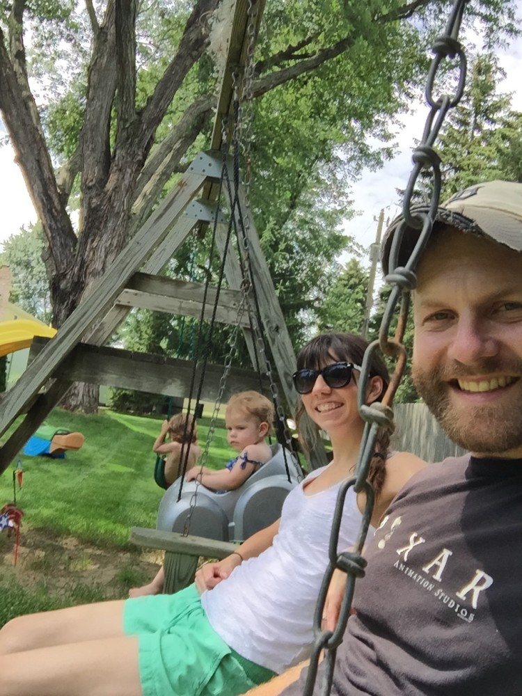 Family swing time.