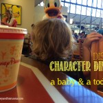 Character Dining with a Baby and Toddler.