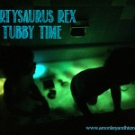Partysaurus Rex Tubby Time with Nuby.